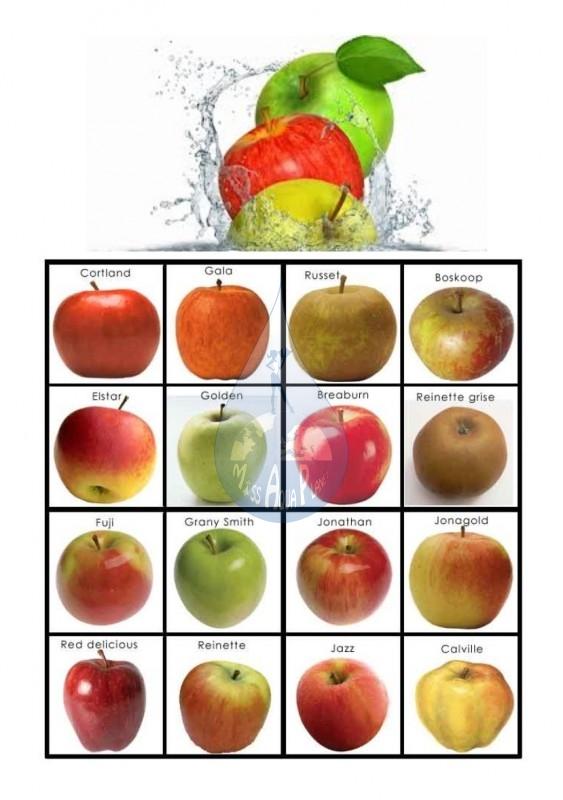 pomme eau+noms