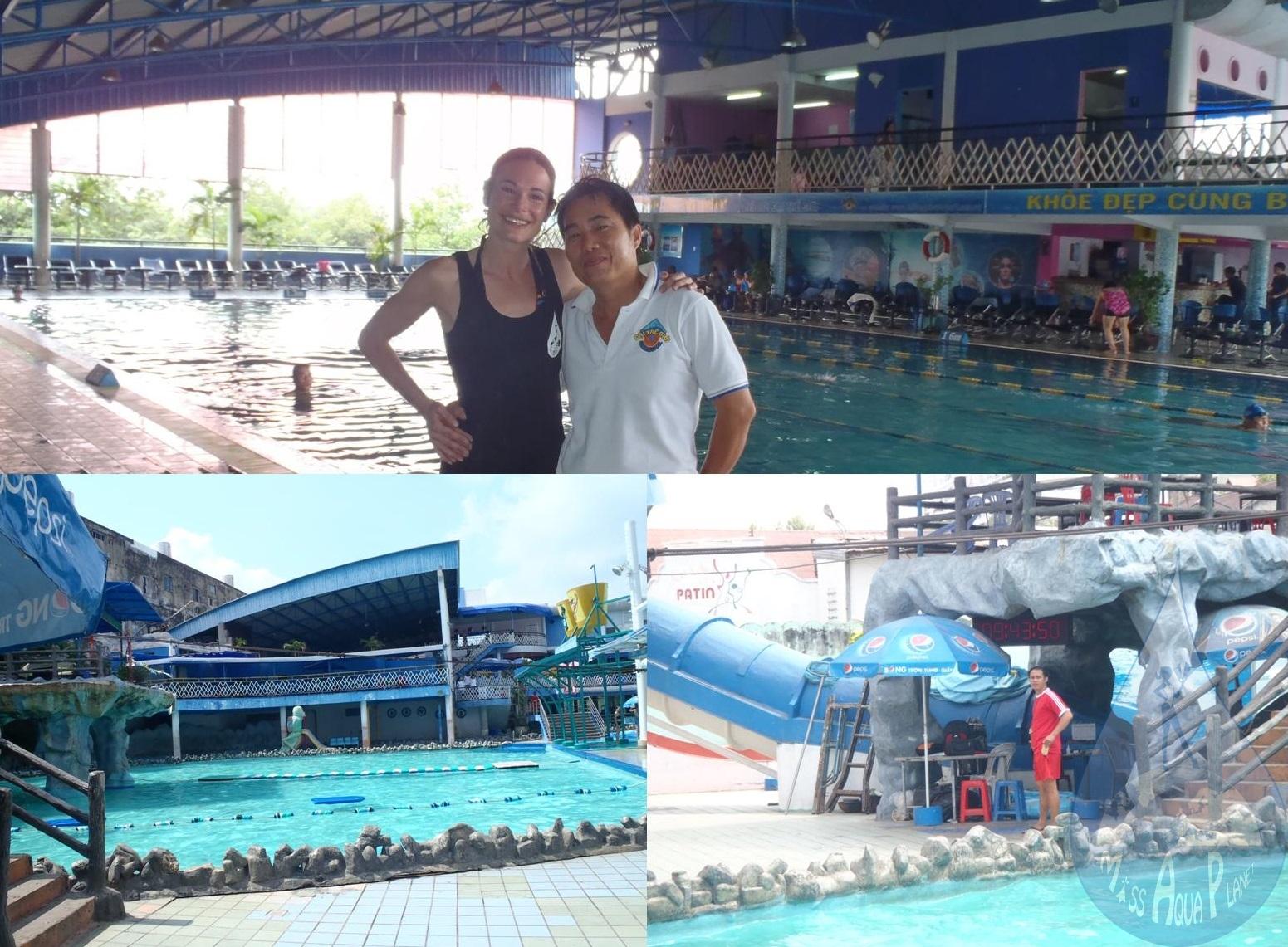 Comment apprendre nager au vietnam miss aqua planet for Apprendre a plonger dans la piscine